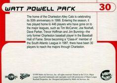 1999 Multi-Ad Charleston Alley Cats #30 Watt Powell Park Back