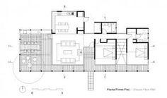 Floor Plan. Bernard Schwartz House, 1939. Frank Lloyd Wright. Usonian Style. Two Rivers, Wisconsin.