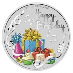 Australien 1 Dollar 2017 Happy Birthday Silber UN coincombinat