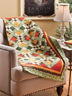 Quilting - Holiday & Seasonal Patterns - Autumn Patterns - Warm Blessings