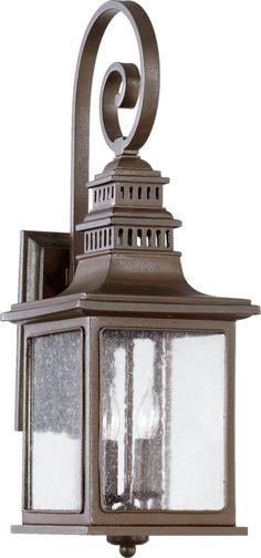 Quorum International 7043-2-86 Magnolia 2 Light 25 inch Oiled Bronze Outdoor Wall Lantern