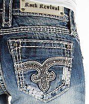 ++ 27 ROCK REVIVAL Women/'s Jeans size 26 FLO KAILYN 28 flare//skinny JAZLYN