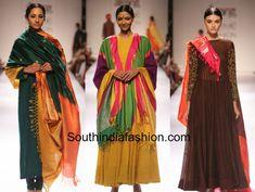 gaurnag plain anarkali with kanjeevaram pattu dupattas Anarkali Dress, Anarkali Suits, Designer Anarkali, Indian Fabric, Traditional Looks, Suit Fashion, Indian Designer Wear, Indian Outfits, Fit And Flare