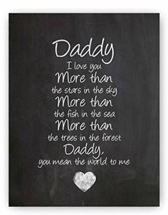Daddy Poem Chalkboard Print by Ocean Drop Photography - Thoughtful Gift for Dad & the Perfect Father's Day Gift - Beautiful Typography Artwork - Ready to Hang Hanger Included clever fathers day gifts, dad gifts for christmas, mothers day gifts easy Daddy Poems, Daddy Daughter Quotes, Fathers Day Poems, Happy Father Day Quotes, Daddy Quotes, Daddy Day, Fathers Day Crafts, Poem Quotes, Quotes For Dad