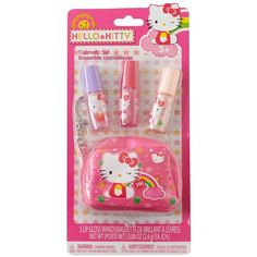 Hello Kitty Lipgloss Gift Set, Red/Pink (Cherry/Cotton Candy) ($2.40) ❤ liked on Polyvore featuring beauty products, cosmetics, filler and makeup