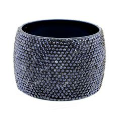"""Fashion Rhinestone Bangle; 2.5"""" Diameter And 2""""L; Black With Navy Rhinestones; Eileen's Collection. $24.99"""