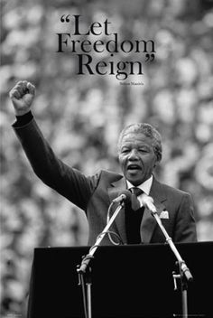 Framed Nelson Mandela Let Freedom Reign Speech Poster Ready To Hang Frame Citation Nelson Mandela, Nelson Mandela Quotes, Citations Mandela, Les Sentiments, We Are The World, The Life, Good People, Popular People, Motto