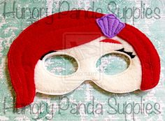 Mermaid Girl Mask Embroidery Design by HungryPandaSupplies on DeviantArt
