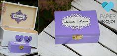 Śliczny zestaw Violet Love <3 Kuferek i pudełko dla Agnieszki i Dariusza :)  http://papier-nozyce.pl/ https://www.facebook.com/