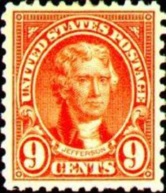 US Stamp 1921 - Thomas Jefferson, 3rd US President 1801-1809