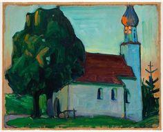 Gabriele Münter  The Village Church 1908