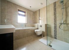 Spacious Tiled Bathroom