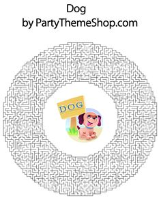 Printable Maze Puzzles for Adults | Dog Theme Party | Theme Ideas | Free Games and Printable Puzzles