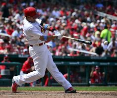 Allen Craig hits an rbi double against the Washington Nationals during the seventh inning. Cards won 5-2. 6-15-14