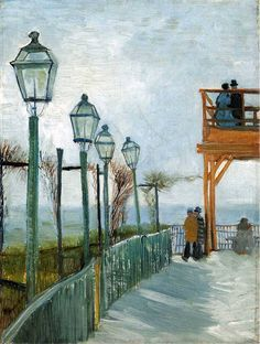 Vincent van Gogh — Belvedere Overlooking Montmartre, 1886, Vincent...