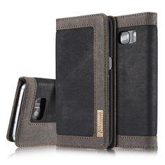 Étui Portefeuille Samsung Galaxy S7 edge Denim - Noir