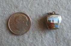 Vintage Charm Silver Munchen Munich Germany Bell Very RARE Travel Enamel Moves   eBay Soldiers Returning Home, Munich Germany, Charm Bracelets, Vintage, First Love, Cufflinks, Pendants, Ebay, Silver