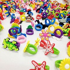 50 Rubber Rings For Children - Party Favors / Giveaways, 2015 Amazon Top Rated Miniatures #Toy