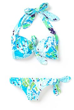 Lilly Pulitzer Lois Tie Front Bandeau Bikini Top