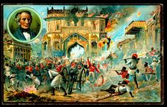 Price's Patent Candles, Famous Battles, 1910. Lucknow, Indian Mutiny 1857. (Sir Henry Havelock inset)