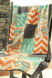 orange grey quilt - Google Search