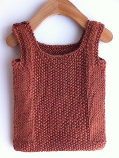 Knit from the bottom up, this is a simple vest for the little guys in your life. A seed stitch panel and borders add interest while extra care is taken in the pattern to create clean edges. einfach Weste baby professor vest pattern by sam lamb Knitting For Kids, Baby Knitting Patterns, Baby Patterns, Crochet Shawl, Knit Crochet, Knitted Baby, Knit Vest Pattern, Seed Stitch, How To Purl Knit