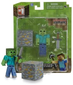 """Overworld Zombie ~2.6"""" Minecraft Mini Fully Articulated Action Figure Pack Unknown,http://www.amazon.com/dp/B00GGZ7AQK/ref=cm_sw_r_pi_dp_DRP7sb1MPP68327P"""