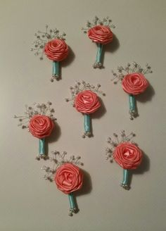 Ribbon roses for my lil sisters wedding;)