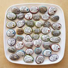 Boda favores mensaje piedras rocas de afirmación piedras