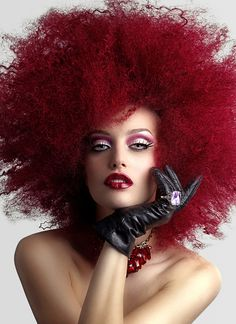 Image detail for -Karelea Blue Eyed Woman w Cranberry Afro and Lipstick, OMP Showcase ...