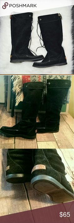 Sperry Top-Sider Tall Black Suede Boots PRICE FIRM Size 6. In EXCELLENT condition!! Worn only a handful of times! So cute and comfortable! They really stand out! Sperry Top-Sider Shoes