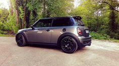 Mini Cooper S Dark Silver R56 Sparco Black Wheels!