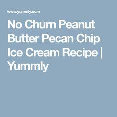 No Churn Peanut Butter Pecan Chip Ice Cream Recipe | Yummly Peanut Butter Candy, No Churn Ice Cream, Butter Pecan, Dark Chocolate Chips, Homemade Ice Cream, Frozen Desserts, Meal Planner, Ice Cream Recipes