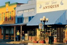 This picturesque strip of buildings in Smithville, Texas appears in several recent films, including The Tree of Life and the upcoming release Doonby, and characterizea Smithville's Main Street. | Photo by Michael Amador