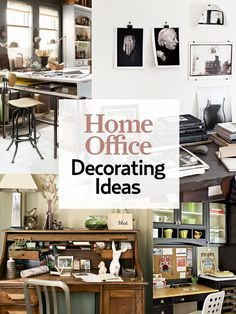 17 home office ideas that are as creative as you are: http://www.countryliving.com/homes/decor-ideas/home-office-ideas