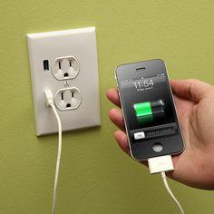 USB wallplug found at thinkgeek.com.