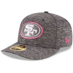San Francisco 49ers New Era 2016 Breast Cancer Awareness Sideline Official Low Profile 59FIFTY Fitted Hat - Heather Gray