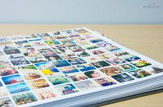 I LOVE this idea!  Using Prinstagram, print out all insta pics as stickers for cheap!  Way cute.