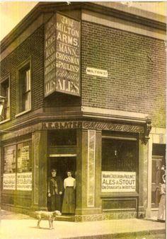 Milton Arms, Milton Street, Plaistow, c 1914 1920 London, London Pubs, Vintage London, Old London, East London, London City, London Architecture, Industrial Architecture, Ancient Architecture