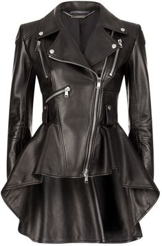 designer clothing, luxury gifts and fashion accessories Alexander McQueen Leather Peplum Jacket Leather Peplum, Black Leather, Cool Outfits, Fashion Outfits, Womens Fashion, Emo Fashion, Stylish Outfits, Latest Fashion, High Fashion