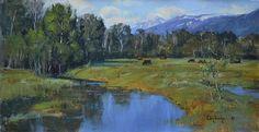 [by my professor] Snake River Valley by Albin Veselka Oil ~ 12 x 24