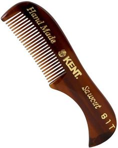 Extra Small Men's moustache and beard comb. 73mm fine toothed moustache and beard comb. This specialist comb is perfect for grooming, maintaining and trimming f