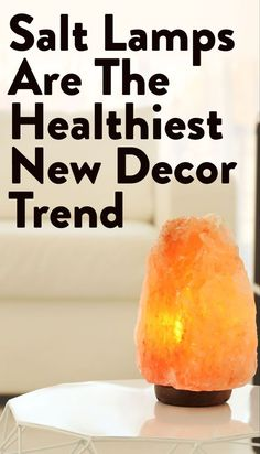 At first I thought this was just a grown-up version of a lava lamp (you know, groovy lighting and all). Turns out, salt lamps actually have wellness benefits like cleaning air, improving mood and reducing allergies. Decorating Your Home, Diy Home Decor, Apartment Needs, Rustic Wall Sconces, Personalized Cutting Board, Target Home Decor, Victorian Decor, Works With Alexa, Health And Fitness Tips