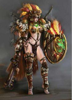 nsfw anime and fantasy girl - Fantasy Female Warrior, Fantasy Women, Dark Fantasy Art, Fantasy Girl, Fantasy Artwork, Female Art, Warrior Princess, Warrior Girl, Warrior Fashion