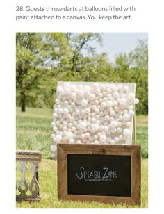 "Looking for a fun game to play at your summer wedding's reception? Try water balloon darts! Guests will happily enter the ""splash zone"" and beat the heat! { games 17 Fun Wedding Games (Besides Cornhole! Farm Wedding, Rustic Wedding, Dream Wedding, Wedding Day, Wedding Tips, Diy Wedding, Wedding Food Bars, Wedding Summer, Wedding Trends"