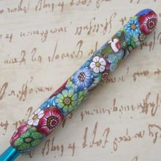Susan Bates Polymer Clay Covered Crochet Hook by polymerclayshed, $11.99