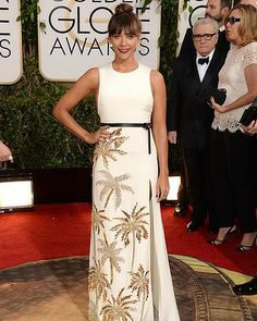 Actress Rashida Jones attends the 71st Annual Golden Globe Awards held at The Beverly Hilton Hotel on January 12, 2014 in Beverly Hills