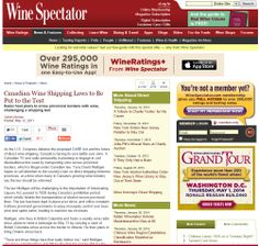 Wine Spectator - Canadian Wine Shipping Laws put to the Test Wine Ratings, Wine Shipping, Red Wine, Writing, Learning, Health, Blog, Health Care, Red Wines