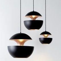 Pendelleuchte im Sixties-Design HERE COMES THE SUN schwarz - Casa Lumi