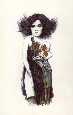 Elegancia na ilustração da talentosa Camila do Rosário